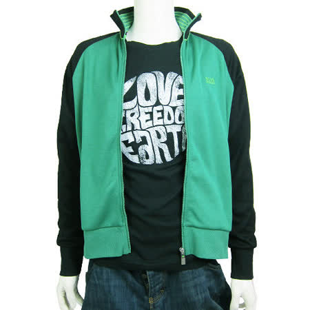 HUGO BOSS 綠標雙色立領棉質外套(綠)