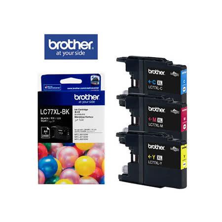 Brother LC77XL BK/C/M/Y 原廠超大容量墨水組合 (1黑+3彩)