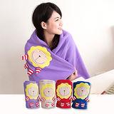 奶油獅 正版授權-台灣製造-舒適輕柔造型毯(1入)-紫(可當發熱暖手枕)