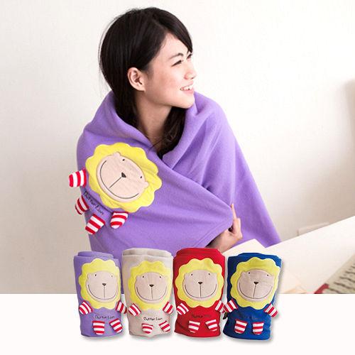 奶油獅  ~ ~舒適輕柔 毯^(1入^)~紫^(可當發熱暖手枕^)
