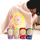 奶油獅 正版授權-台灣製造-舒適輕柔造型毯(1入)-米(可當發熱暖手枕)