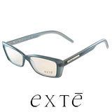 EXTE 時尚膠框近視平光眼鏡(藍) EX019