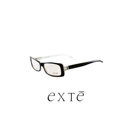 EXTE 時尚膠框近視平光眼鏡(黑) EX199