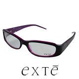 EXTE 時尚膠框近視平光眼鏡(黑/紫) EX224
