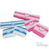《購犀利》美國品牌【Disney】迪士尼吸汗毛巾護腕帶+護髮圈組-粉藍、粉紅(2組入)