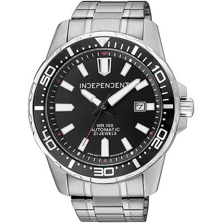 INDEPENDENT 領袖風範機械錶(黑) BJ4-418-51