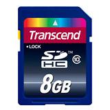 【春節福袋】創見 8GB SDHC Class10 記憶卡+4入收納盒+小腳架+萬用保護貼(超值組)