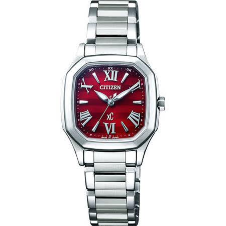 CITIZEN xC 時尚佳人電波腕錶-紅 ES5050-57Y