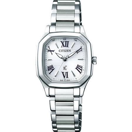 CITIZEN xC 時尚佳人電波腕錶-銀 ES5050-57A