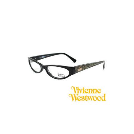Vivienne  Westwood 光學平光鏡框★復古時尚造型★英倫龐克風(黑) VW15201