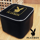 PLAY BOY 流行時尚四方造型椅-經典黑