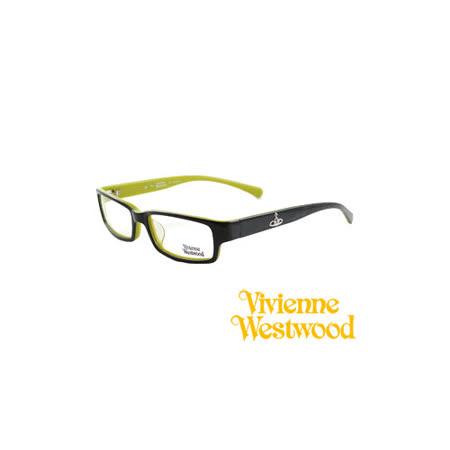 Vivienne Westwood 光學平光鏡框★經典LOGO造型★英倫龐克風(黑/綠) VW158 03