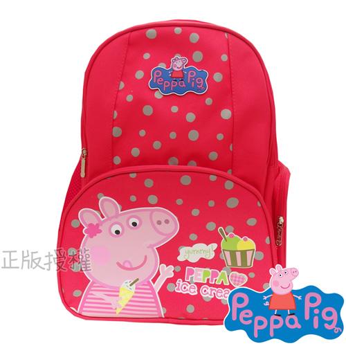 【佩佩豬/粉紅豬Peppa Pig】精緻護脊後背書包(冰淇淋款)