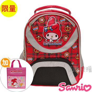 【Hello Kitty凱蒂貓】書包+提袋-花漾減壓護背款(粉色)
