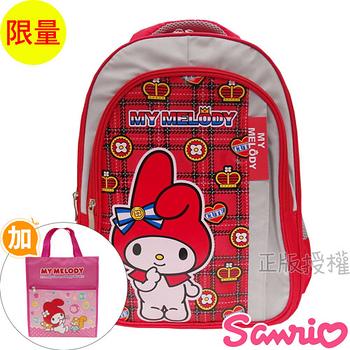 【Hello Kitty凱蒂貓】書包+提袋-花漾高級雙層後背款(粉色)