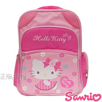 【Hello Kitty凱蒂貓】花漾高級雙層後背書包(粉色)