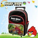 【Angry Birds】憤怒鳥㊣版授權 16吋經典拉桿四層後背書包(黑)