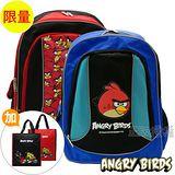 【Angry Birds】憤怒鳥 書包+補習袋-反光護背款(三款)