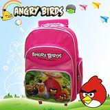 【Angry Birds】憤怒鳥㊣版授權 16吋經典拉桿四層後背書包(粉)