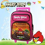 【Angry Birds】憤怒鳥㊣版授權 經典三段式拉桿四層後背書包(粉)