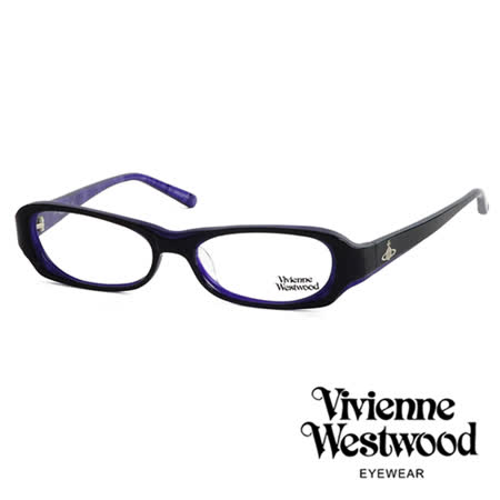 Vivienne Westwood 光學平光鏡框★經典LOGO雙色造型★英倫龐克風(紫/黑) VW176 01