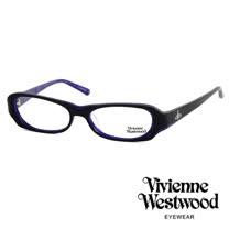 Vivienne Westwood 經典LOGO雙色造型光學眼鏡 (紫/黑) VW176G01