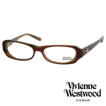 Vivienne Westwood 光學平光鏡框★經典LOGO造型★英倫龐克風(咖啡) VW176 02