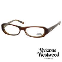 Vivienne Westwood 經典LOGO雙色造型光學眼鏡 (咖啡) VW176G02