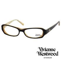 Vivienne Westwood 經典LOGO雙色造型光學眼鏡 (黑/黃) VW176G03