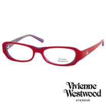 Vivienne Westwood 經典LOGO雙色造型光學眼鏡 (紫/紅) VW176G04
