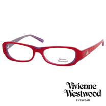 Vivienne Westwood 光學平光鏡框★經典LOGO雙色造型★英倫龐克風(紫/紅) VW176 04
