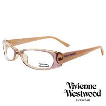 Vivienne Westwood 經典LOGO造型英倫龐克風光學眼鏡 (粉) VW192G02