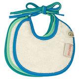 ImseVimse-有機棉繫繩式口水巾(湖泊藍/3件組)