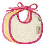ImseVimse-有機棉繫繩式口水巾(玫瑰粉/3件組)