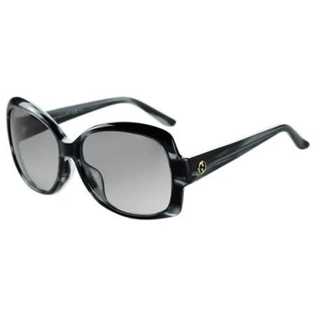 GUCCI-時尚太陽眼鏡(大理石紋黑)