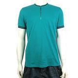 A│X Armani Exchange 拉鍊造型素面棉質開襟衫(綠)