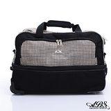 ABS愛貝斯 輕量布面拉桿大旅行袋(典雅黑格紋)1736B