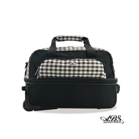 ABS愛貝斯 輕量防潑水布面拉桿旅行袋26-030(黑格)