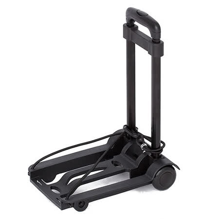 ABS愛貝斯-超輕巧萬用車/拉桿車折疊購物車(黑)26-018