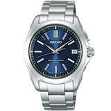 SEIKO BRIGHTZ 科技電波太陽能腕錶-藍/銀 7B24-0AK0B