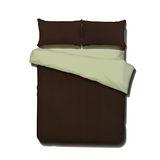 《KOSNEY 享樂-奶黃咖啡》頂級活性精梳棉加大床包三件組