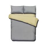 《KOSNEY 享樂-米駝淺灰》頂級活性精梳棉加大床包三件組