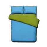《KOSNEY 享樂-果綠湖藍》頂級活性精梳棉加大床包三件組