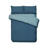 《KOSNEY 享樂-天藍魅藍》頂級活性精梳棉加大床包三件組