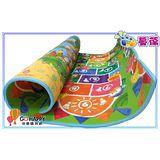 台灣專賣圖款 蔓葆嬰兒爬行墊 水果家族+趣味跳房子雙面2cm特厚款 200x180x2.0cm兒童遊戲墊/野餐墊/地墊/保潔墊