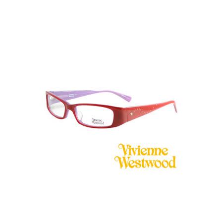 Vivienne Westwood 光學鏡框★閃亮星型晶鑽★英倫龐克風(紅/紫) VW149 03
