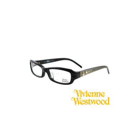 Vivienne Westwood 光學鏡框★閃亮時尚晶鑽★英倫龐克風(黑) VW157 03