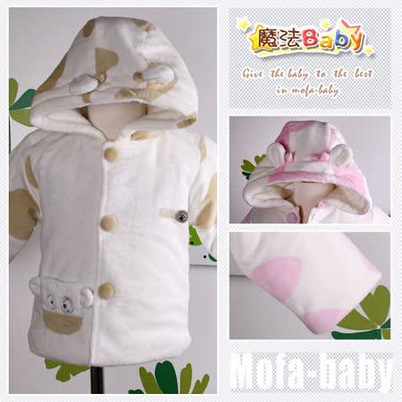 (購物車)魔法Baby~百貨專櫃正品剪毛絨加厚鋪棉連帽外套~時尚設計童裝~k03621