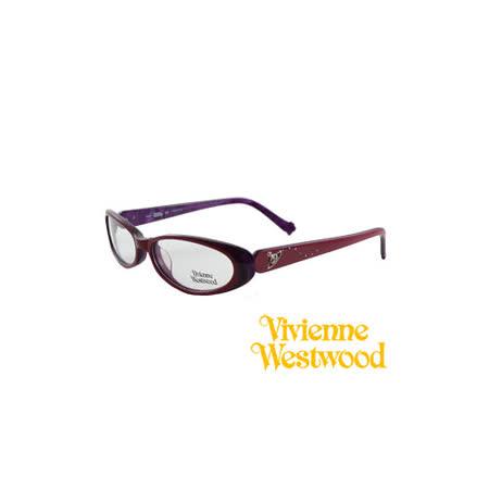 Vivienne Westwood 光學鏡框★閃亮時尚晶鑽★英倫龐克風(紅) VW160 02