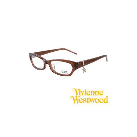 Vivienne Westwood 光學鏡框★閃耀星星垂飾★英倫龐克風(咖啡) VW167 01